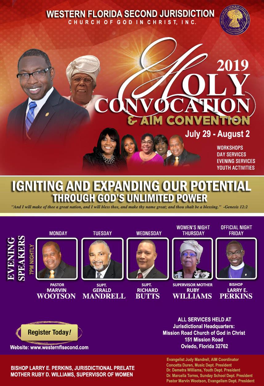 Holy Convocation 2019 and FAIM Convention   westernflsecond com